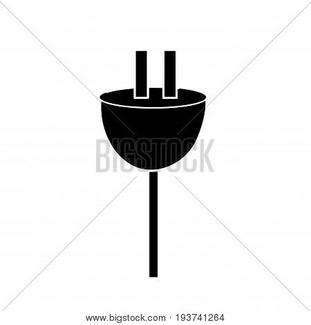 contour electric power cable to voltage connection vector illustration
