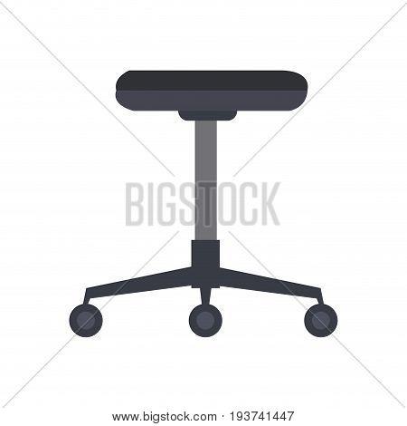 office chair furniture equipment comfort wheel vector illustration
