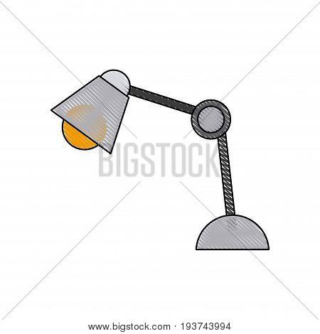 desk lamp bulb light electric equipment vector illustration