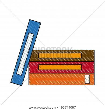 stack book literature encyclopedia learn office vector illustration
