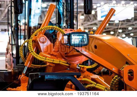 Modern Tractor Close-Up machine backgrounds fone for site