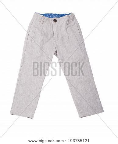 Children's pants on a white background isolated