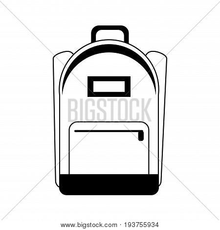 school backpack icon image vector illustration design black and white