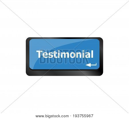 Testimonial Word, Button On Computer Keyboard Key