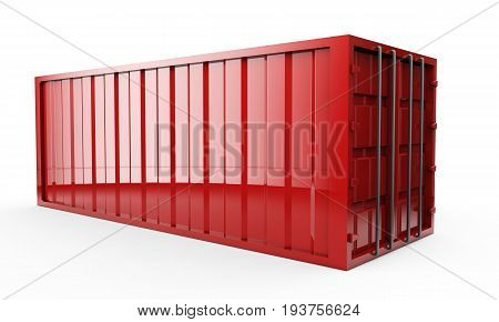 3d rendering of a shipping container Import, Terminal, Shipped, Seafreight, Contenedor