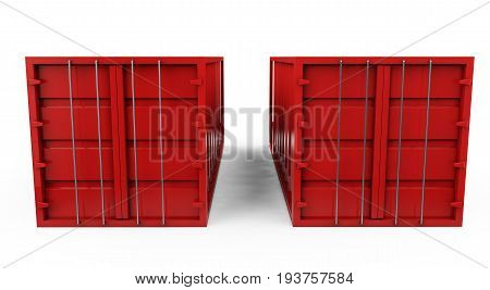 3d rendering of shipping containers, Handles, Warehouse, Distribution, Commerce, Compartment, Trade, Bulk, Carrier, Export, Deliver