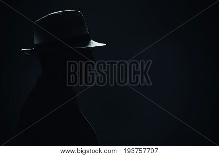 Silhouette Of A Man With Hat