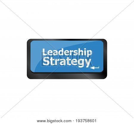 Computer Keyboard Key With Leadership Strategy Button