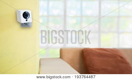 Security camera on living room. IP Camera