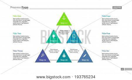 Triangular diagram. Progress chart. Element of presentation. Concept for infographic, business templates, marketing, report. Can be used for topics like business, structure, system of organization