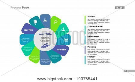 Twelve petals process chart. Business data. Flower, diagram, design. Creative concept for infographic, templates, presentation, marketing. Can be used for topics like management, training, teamwork.