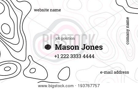 White and pink business card template. US standard size 3.5x2 in. With bleed size 0.125 in. Vector. Minimal and easy style. The abstract creative concept.