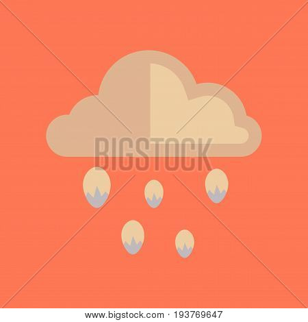 flat icon on stylish background nature cloud hail