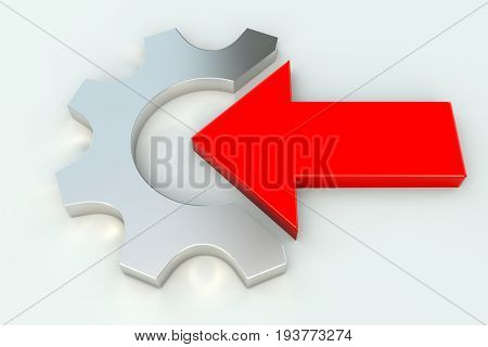 Automation Integration System Modernization gear wheal white background 3d illustration