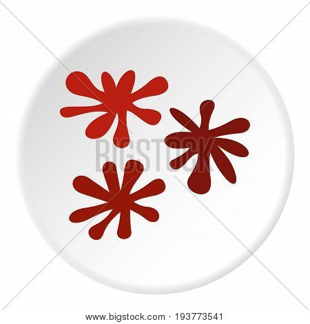 Paintball blob icon in flat circle isolated vector illustration for web