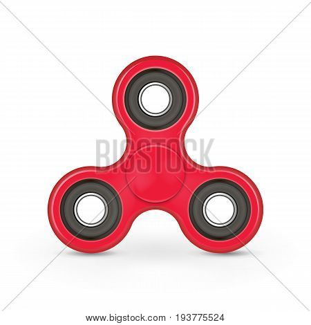 Realistic anxiety relief toy. Fidget finger spinner stress. Hand spinner isolated on white background. Vector illustration. Eps 10.