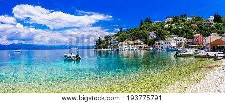 Greek holidays - tranquil village Loggos in gorgeous Paxos. Ionian islands