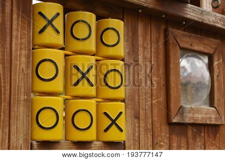 Oughts And Crosses, Tic Tac Toe Game, At Children Playground