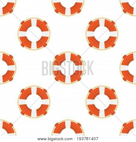 lifebuoy seamless pattern on a white background. Vector illustration