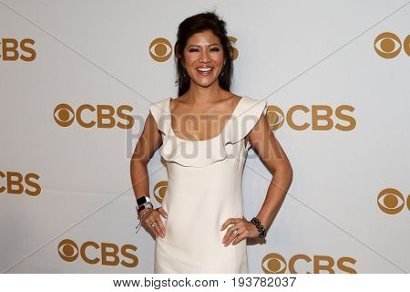 Talk show host Julie Chen attends the 2015 CBS Upfront at The Tent at Lincoln Center on May 13, 2015 in New York City.