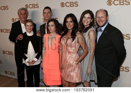 The cast of Life in Pieces attend the 2015 CBS Upfront at The Tent at Lincoln Center on May 13, 2015 in New York City.