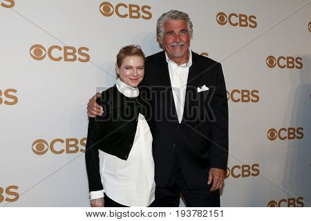 Actress Dianne Wiest (L) and James Brolin attend the 2015 CBS Upfront at The Tent at Lincoln Center on May 13, 2015 in New York City.