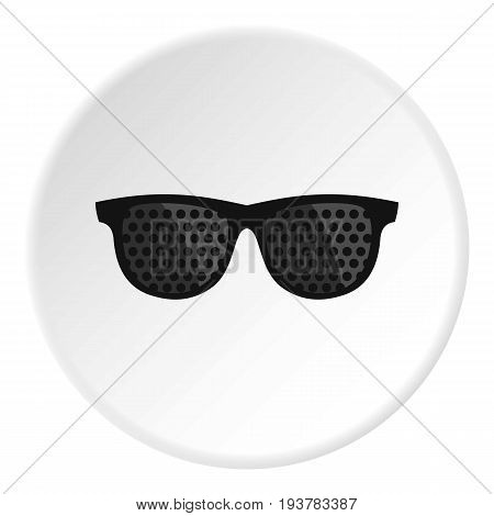 Bifocals icon in flat circle isolated vector illustration for web
