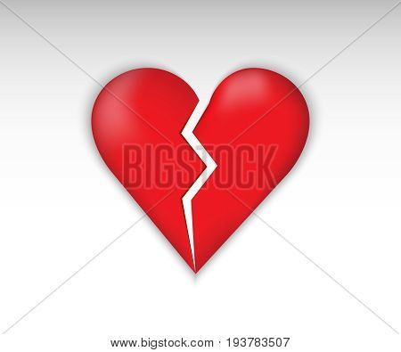 Broken heart vector. Heart Icon. Broken symbol love