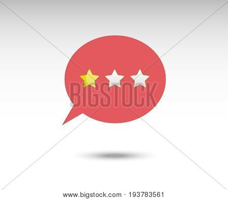 Customer review communication vector symbol, online survey, rating stars, positive and negative comments, chat bubble speeches, rating symbol chat