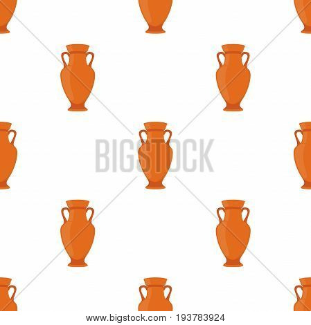 Ancient pottery seamless pattern, vase, jar, amphora. Made in cartoon flat style. Vector illustration