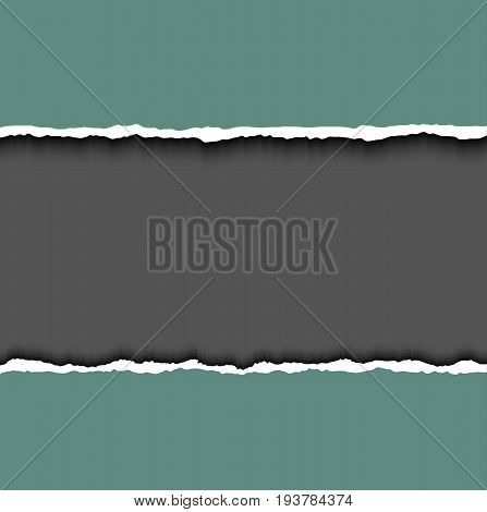 Torn paper vector with soft shadow isolated