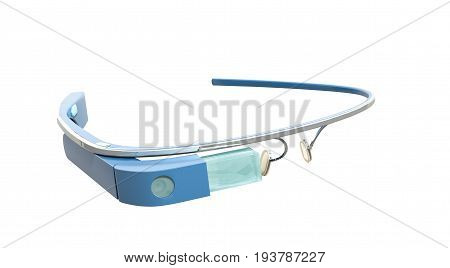Interactive Glasses 3D Render On White No Shadow
