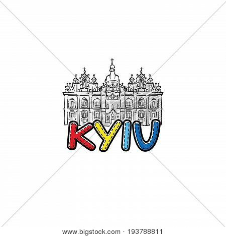 Kyiv Beautiful Sketched Icon