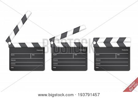Clapper board. Cinema. Movie clapper vector illustration