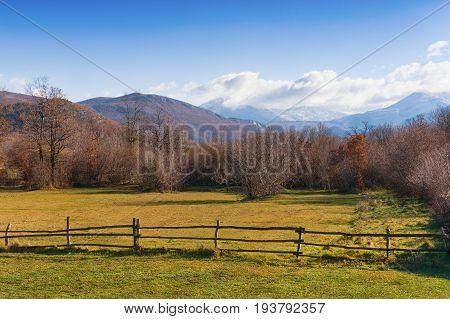 Bosnian countryside on a sunny autumn day. Bosnia and Herzegovina