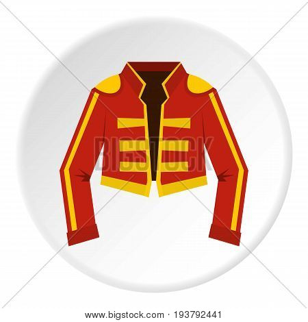 Costume of toreador icon in flat circle isolated vector illustration for web