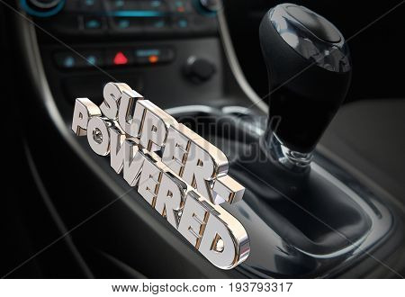 Super-Powered Car Vehicle Automotive Performance 3d Illustration