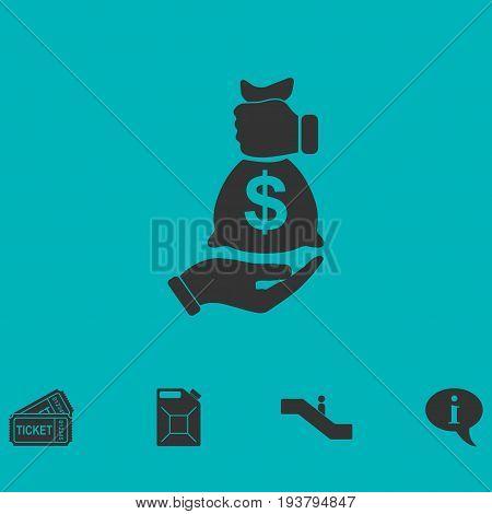 Bribe icon icon flat. Simple vector symbol and bonus icon