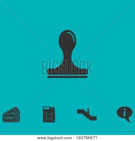 Stamp icon flat. Simple vector symbol and bonus icon