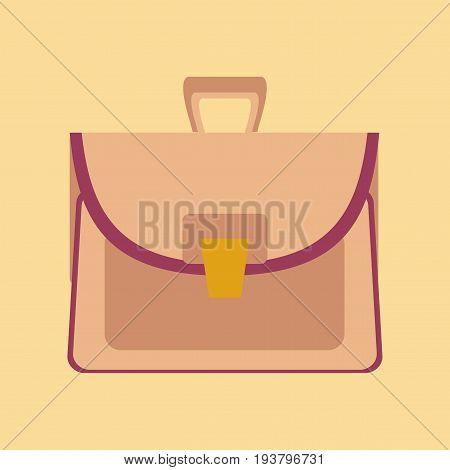 flat icon on stylish background case school bag