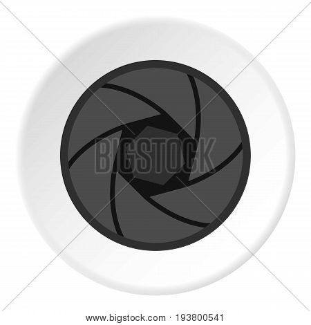 Professional objective icon in flat circle isolated vector illustration for web