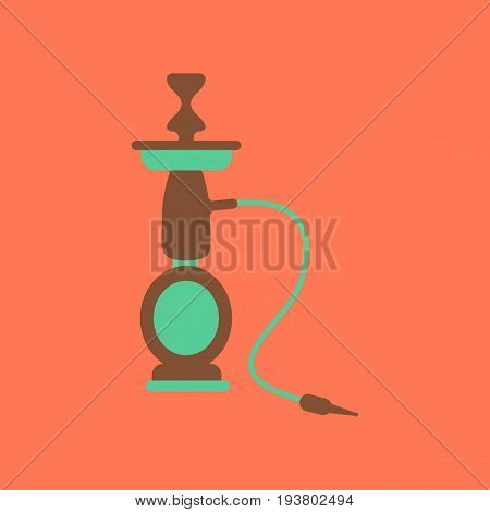 flat icon on stylish background Eastern smoke hookah