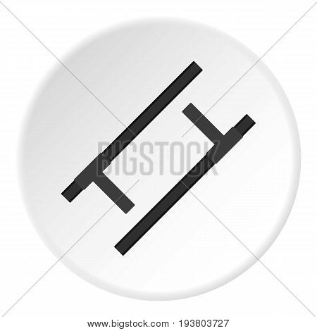 Tonfa, traditional asian weapon icon in flat circle isolated vector illustration for web