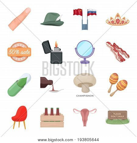 Health, beauty, food and other  icon in cartoon style.Hunting, entertainment, service icons in set collection.