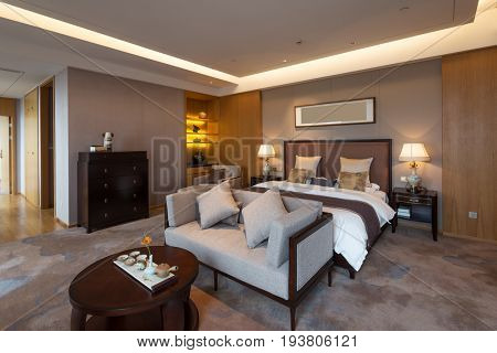 decoration and design in luxury bedroom