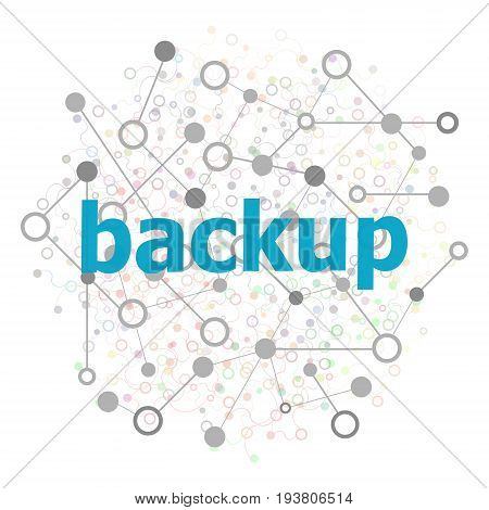 Text Backup. Web Design Concept . Stylized Low Poly Concept With Wired Construction
