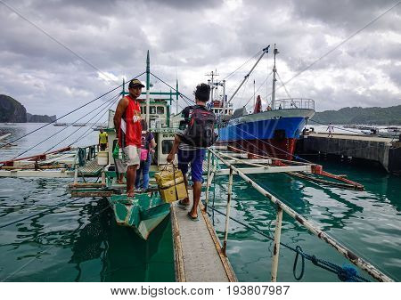 El Nido Tourist Jetty In Palawan, Philippines