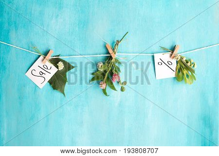 Summer sales concept. Card
