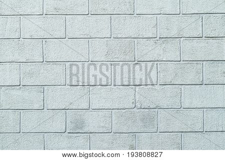 Plastered Textured Wall In Form Of Brick Blocks