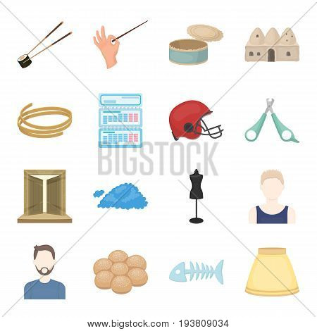 trip, business, hobby and other  icon in cartoon style.bone, ram, skirt icons in set collection.